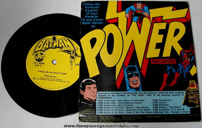 ©1975 Batman Character Record and Cover