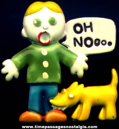 Old Mr. Bill & Spot Saturday Night Live Character Painted Metal Pin