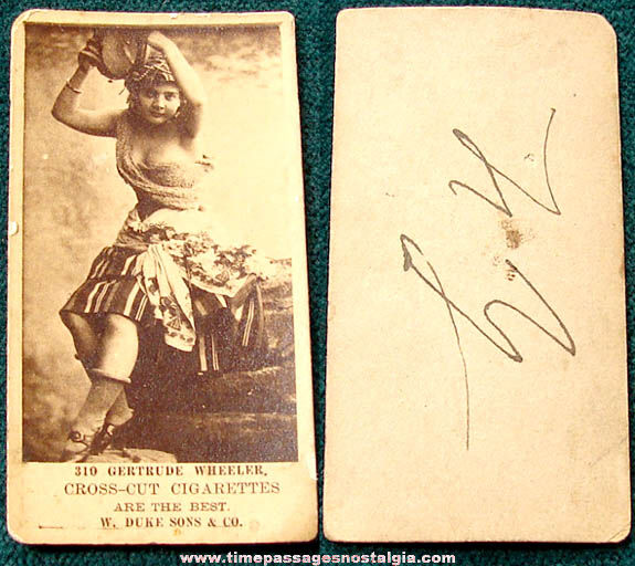 Old W. Duke Sons & Company Cross Cut Cigarettes Premium Actress Tobacco Card