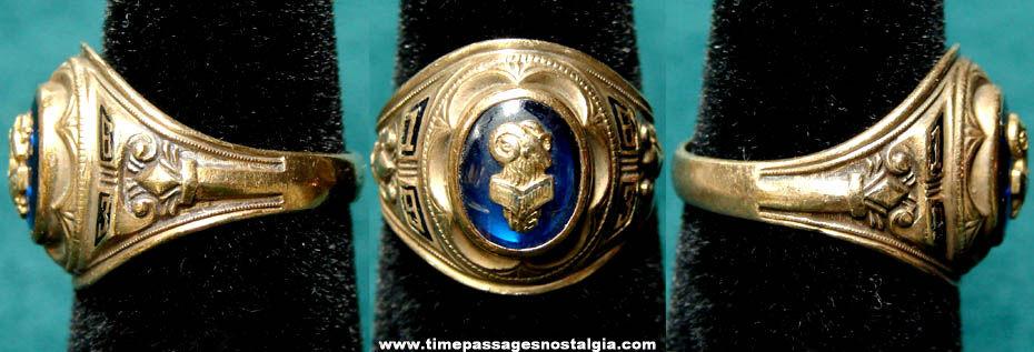 1963 Jacksonville Florida Englewood High School Ladies Gold Class Ring
