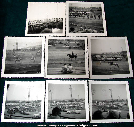 (8) 1957 Fair Show Attraction Black & White Photographs