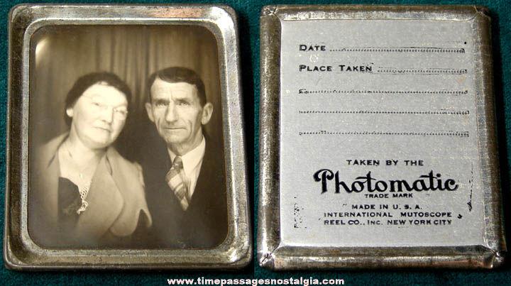 Old International Mutoscope Reel Company Souvenir Photomatic Photograph