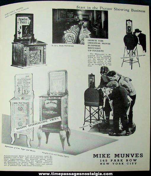 1939 Mike Munves Arcade Game & Machine Catalog