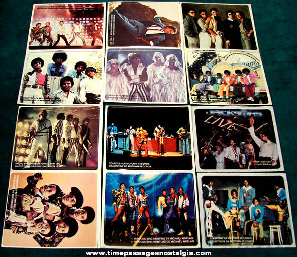 (12) Unused �1984 Jackson 5 Kellogg's Cereal Prize Stickers