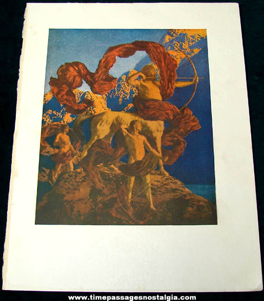 Colorful ©1922 Maxfield Parrish Jason and His Teacher Book Plate Print
