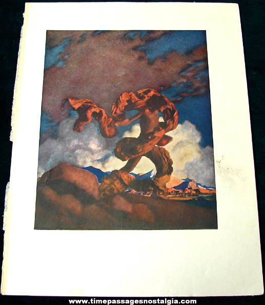 Colorful ©1922 Maxfield Parrish Cadmus Sowing The Dragon's Teeth Book Plate Print