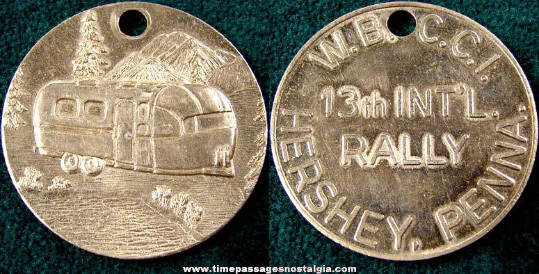 W.B.C.C.I. 13th International Airstream Rally Souvenir Medallion Token Coin