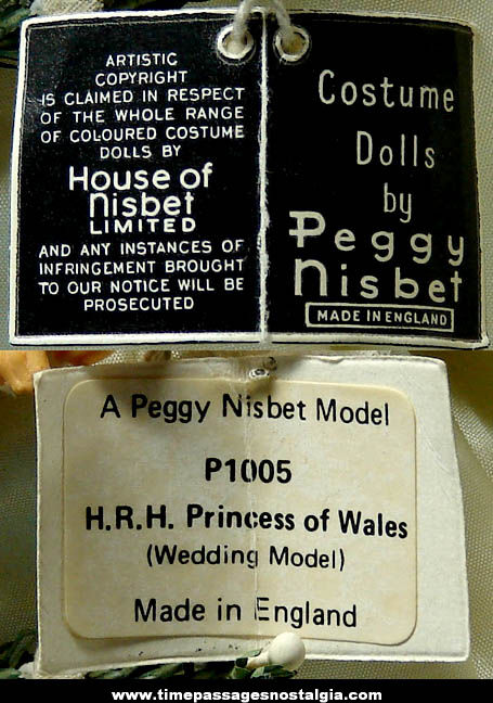 Old Peggy Nisbet Princess Diana Wedding Model Doll
