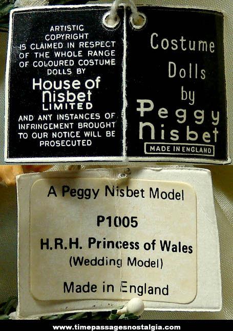 Old Peggy Nisbet Princess Diana Wedding Model Doll