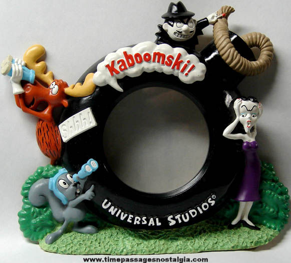 Rocky & Bullwinkle Jay Ward Character Universal Studios Advertising Picture Frame