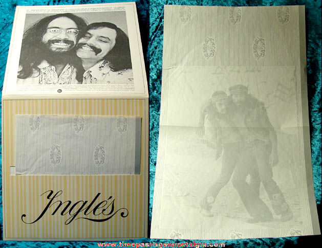 ©1972 Cheech & Chong Big Bambu Record Album With Unused Rolling Paper