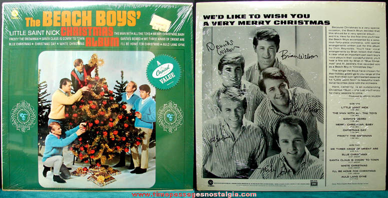 Old Unopened The Beach Boys Christmas Record Album