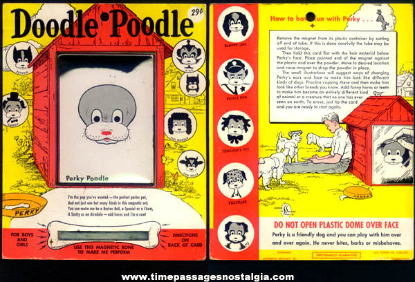 Old Doodle Poodle Carded Magnetic Toy Game