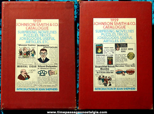 Boxed �1970 Johnson Smith & Company 1929 Reprint Novelty Catalog Book