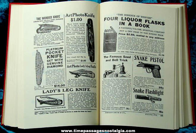 Boxed ©1970 Johnson Smith & Company 1929 Reprint Novelty Catalog Book