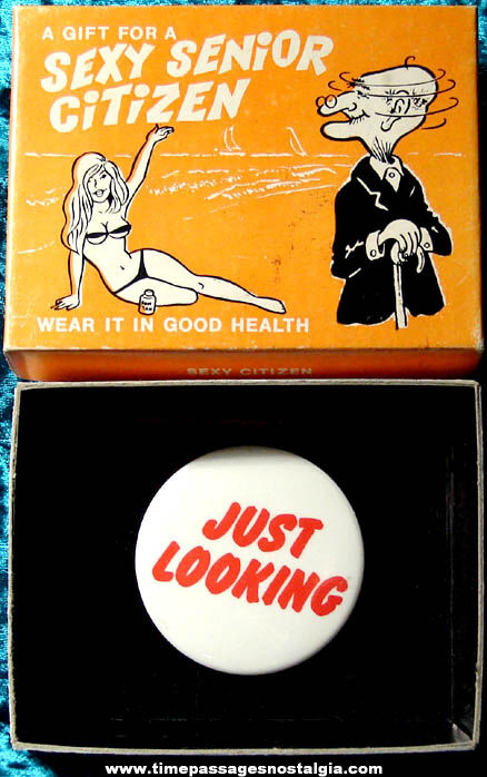 Boxed �1974 Sexy Senior Citizen Joke Novelty Item