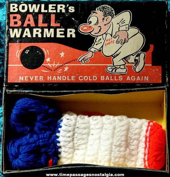 Boxed ©1973 Bowler's Ball Warmer Joke Novelty Item