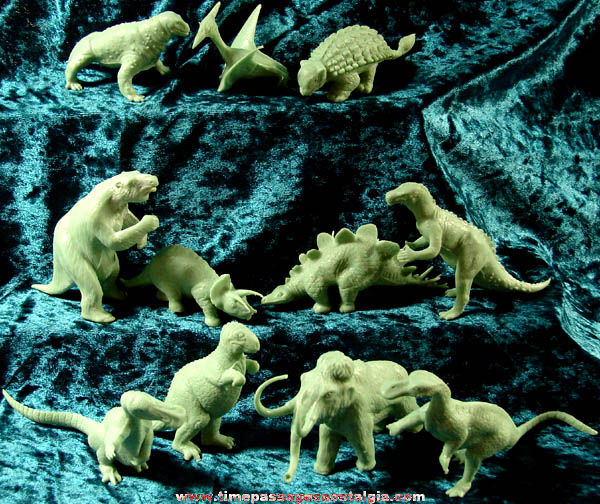 (11) Old MARX Dinosaur & Prehistoric Animal Play Set Figures