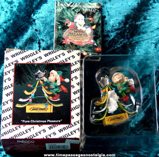 Unused & Boxed ©1994 Wrigley's Chewing Gum Advertising Enesco Christmas Tree Ornament