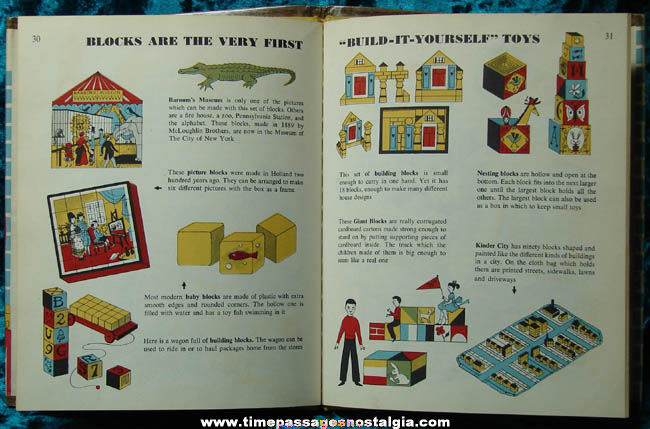 ©1957 The First Book of Toys Hard Back Book