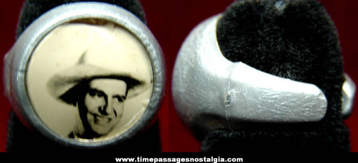 Old Gene Autry Western Cowboy Real Photo Toy Ring