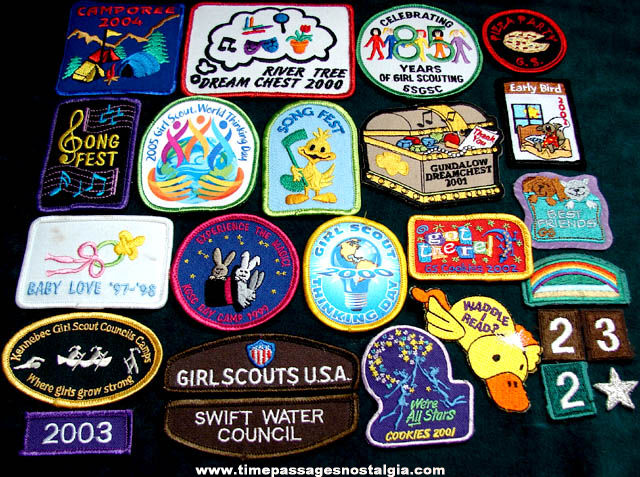 (25) Different Colorful New England Girl Scout Cloth Patches