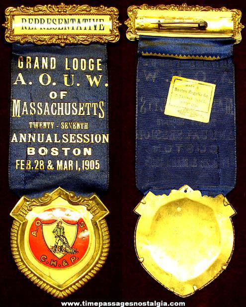 1905 Ancient Order of United Workmen Representative Ribbon Badge