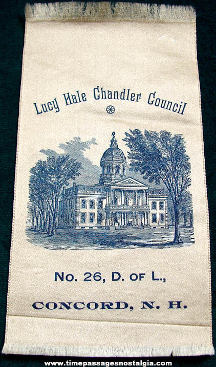 Old Lucy Hale Chandler Council Concord New Hampshire Ribbon