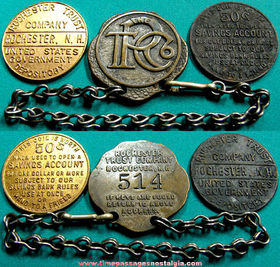 (3) Old Rochester Trust Company New Hampshire Advertising Premium Items