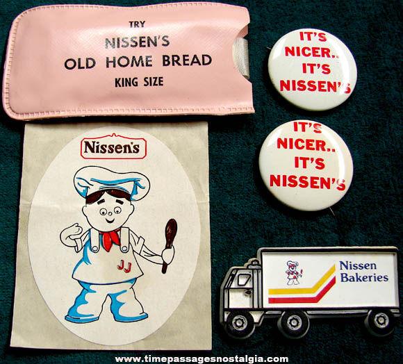 (5) Small Old Nissen's Bakery Advertising Premium Items
