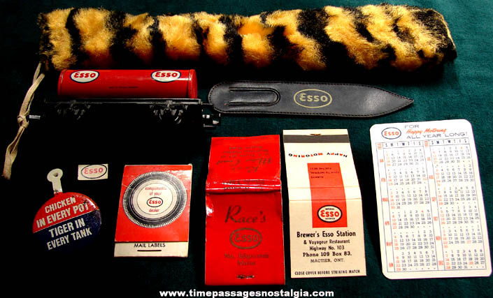(9) Small Old ESSO Gas Station Advertising and Premium Items