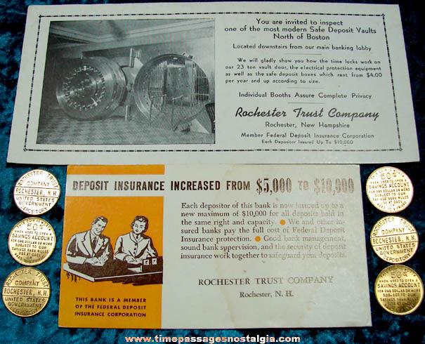(8) Old Rochester Trust Company New Hampshire Advertising Premium Items