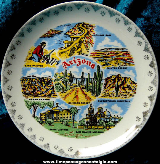 Old Arizona State Advertising Souvenir Plate