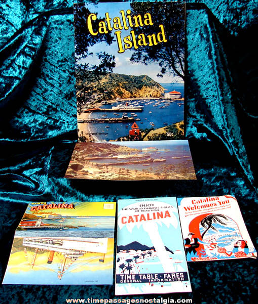 (5) 1951 Santa Catalina Island Tourist Advertising Paper Souvenir Items