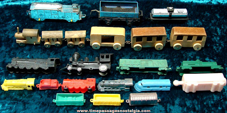 (22) Miscellaneous Toy Train Engines and Cars