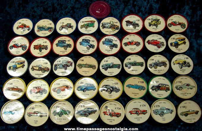 (41) Old Jell-O Desserts Premium Automobile Token Coins