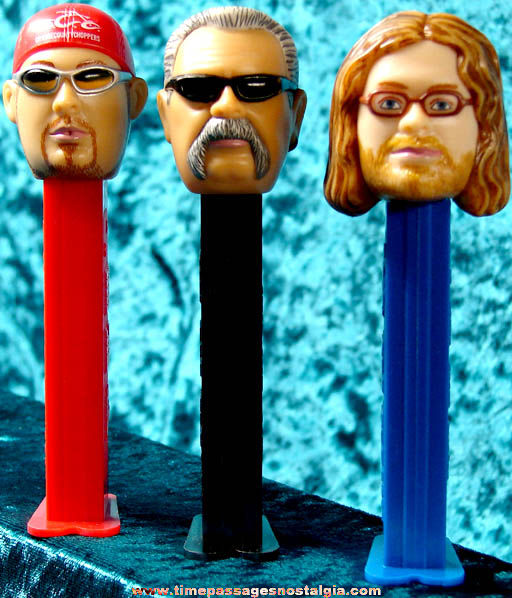 (3) Orange County Choppers Character PEZ Candy Dispensers