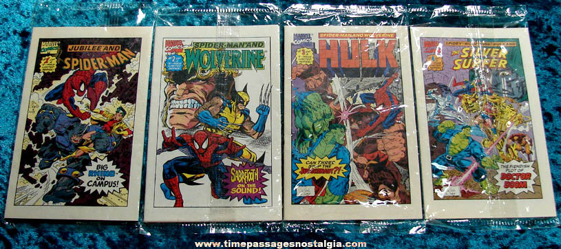 (8) Unopened �1993 Superheroes Drakes Cakes Premium Miniature Marvel Comic Books