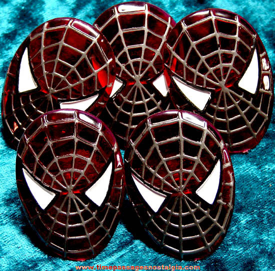 (5) Unused ©2004 Spiderman Marvel Super Heroes Character Toy Rings