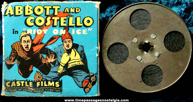 Old Boxed Abbott & Costello Riot On Ice 16mm Castle Movie Film