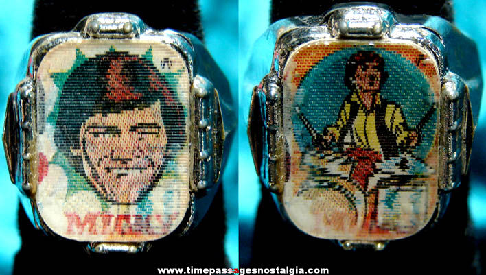 Old Micky Dolenz Monkees Gum Ball Machine Prize Flicker Toy Ring