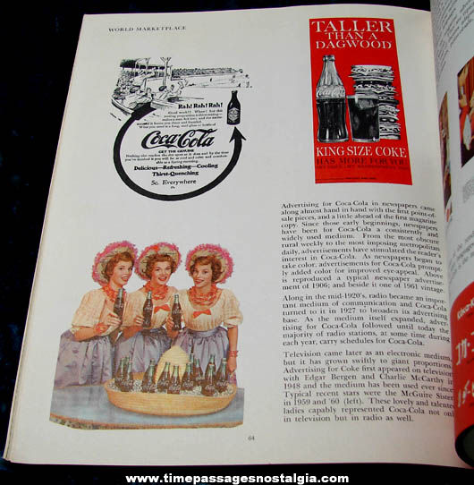 1961 Coca Cola 75th Anniversary Advertising Book With Company Letter