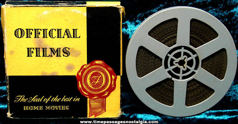 Boxed 1942 Official Films News Thrills 8mm World War II Film Movie