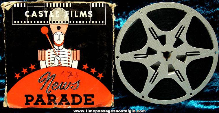 Boxed 1943 Official Films News Thrills 8mm World War II Film Movie