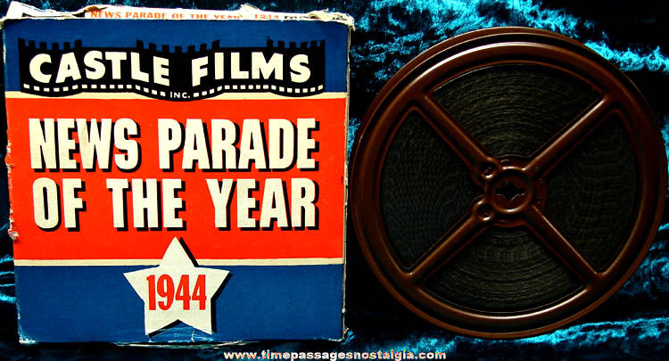 Boxed Castle Films News Parade of The Year 1944 16mm World War II Film Movie