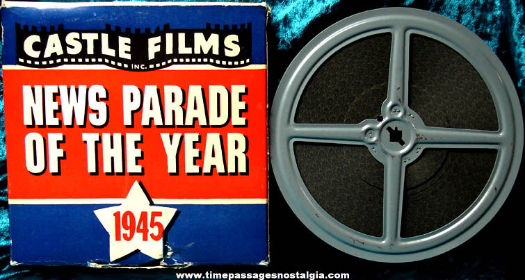 Boxed Castle Films News Parade of The Year 1945 16mm World War II Film Movie