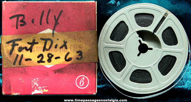 Boxed 1963 Fort Dix 8mm Home Movie Film