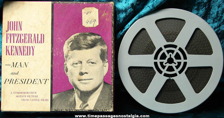 Boxed 1963 U.S. President John F. Kennedy 8mm Castle Films Commemorative Movie