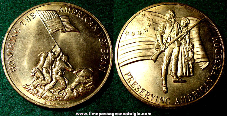 ©1978 United States Military Veteran Commemorative Coin Medal
