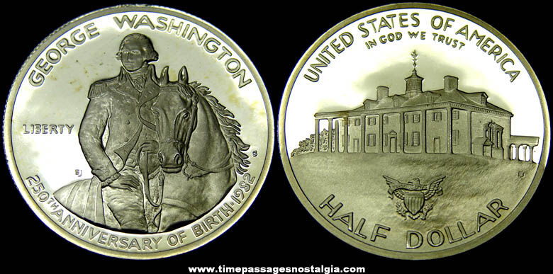 1982-S George Washington 250th Anniversary Commemorative Half Dollar Proof Coin